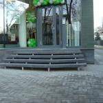 SEB bankas - mozaikinio betono laiptai